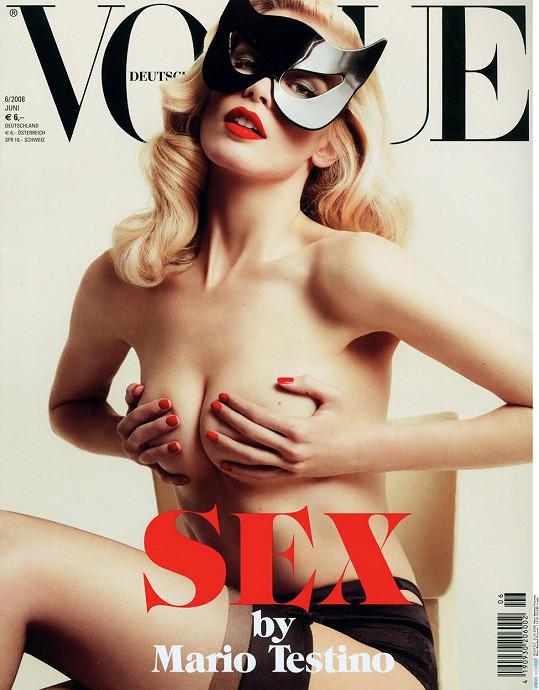 Nahá pózovala i na obálkách předních časopisů.