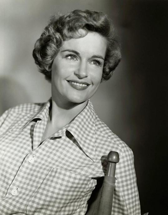 Diana Douglas na archivním snímku z 50. let