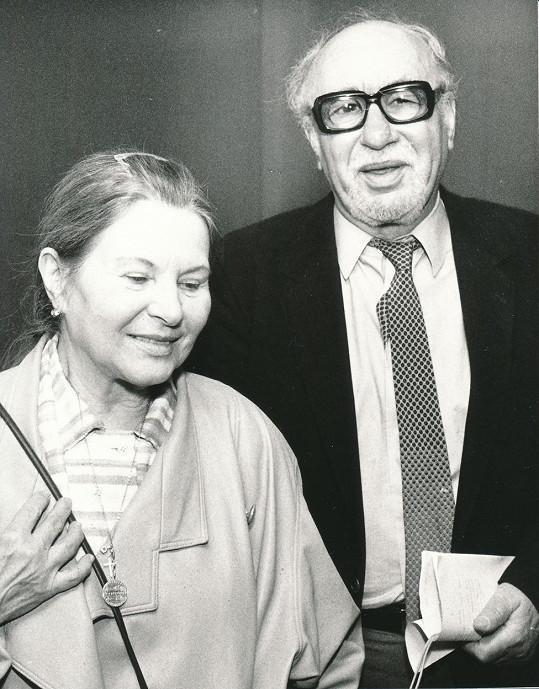 Marie Tomášová s životním partnerem Otomarem Krejčou