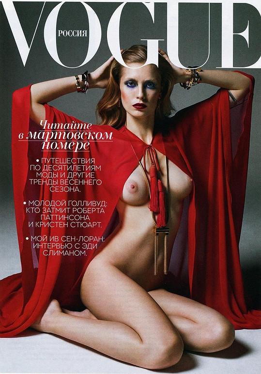Ruské vydání magazínu zdobí úplně nahá Nadja Bender.