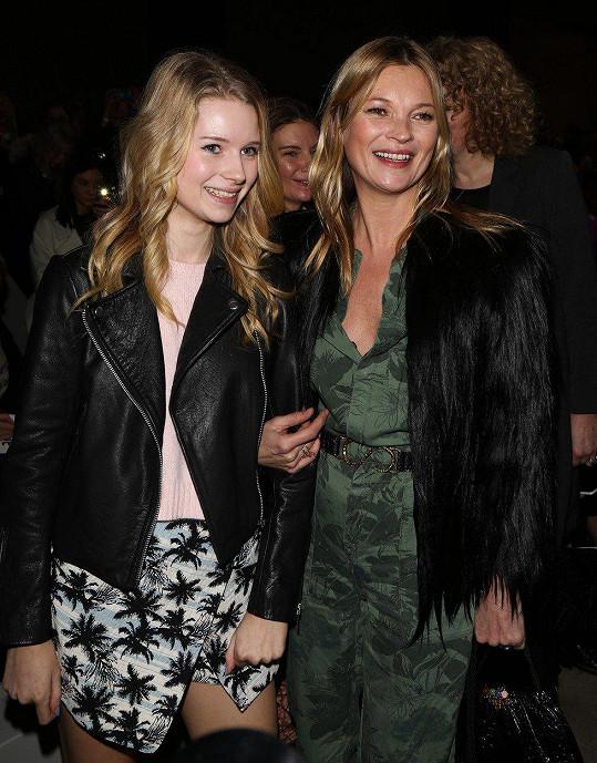 Lottie Moss se slavnější sestrou Kate Moss