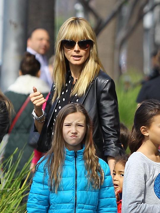 Heidi Klum na rodinné procházce