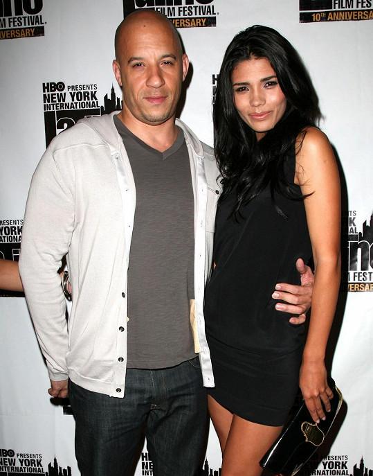 Vin Diesel s partnerkou Palomou Jimenez, která mu porodila třetího potomka.