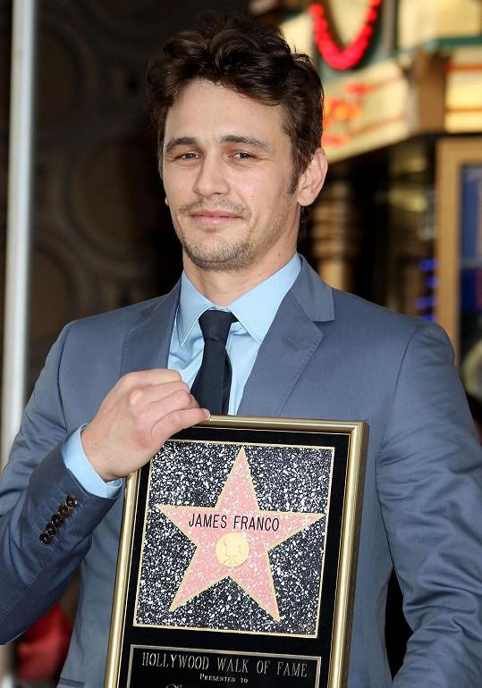 James Franco se svou hvězdou.