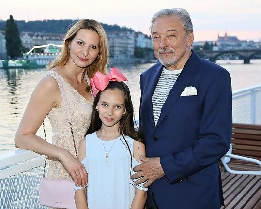 Manželé Gottovi s dcerkou Charlottkou