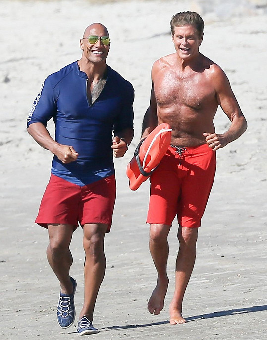 Dwayne Johnson a David Hasselhoff