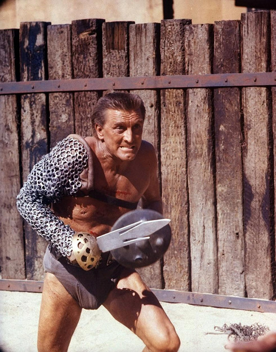 Kirk Douglas ve své slavné roli ve filmu Spartakus