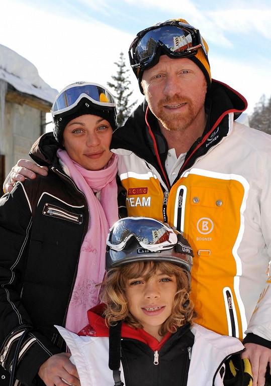 Boris s Lilly a jeho synem z předešlého manželství Amadeem