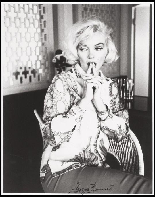 Marilyn během svého posledního pózování před fotoaparátem