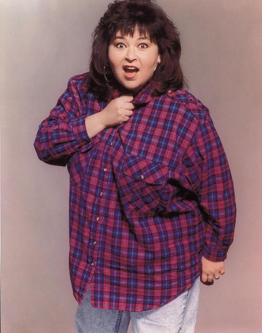 Herečka Roseanne Barr se proslavila jako boubelka.