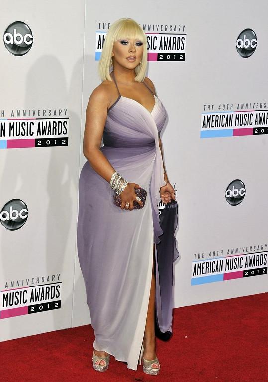 Takhle Christina vypadala v roce 2012, kdy překvapivě nebyla těhotná.