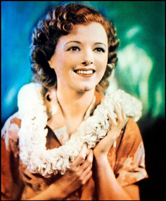 Janet Gaynor ve filmu Zrodila se hvězda (1937). Tehdy nešlo o muzikál.