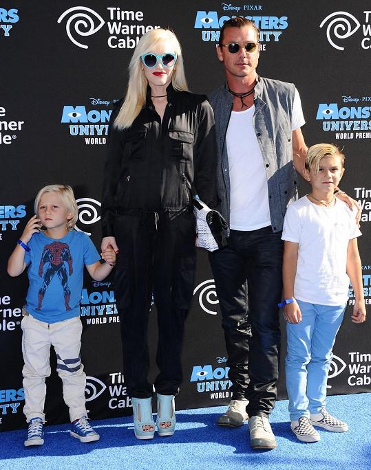 Gwen Stefani s manželem a syny Kingstonem a Zumou