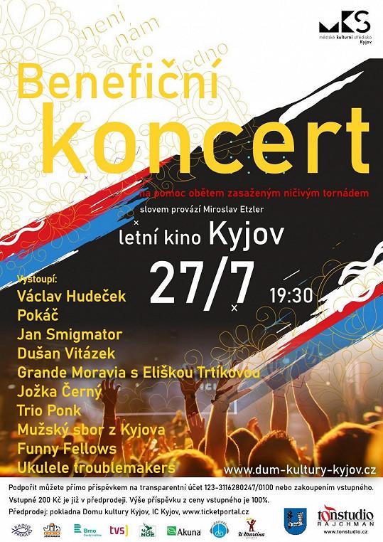 V Kyjově chtějí čistě apolitický koncert. Proti Csákové jinak nic osobního nemají. Nyní už její jméno na plakátě chybí.
