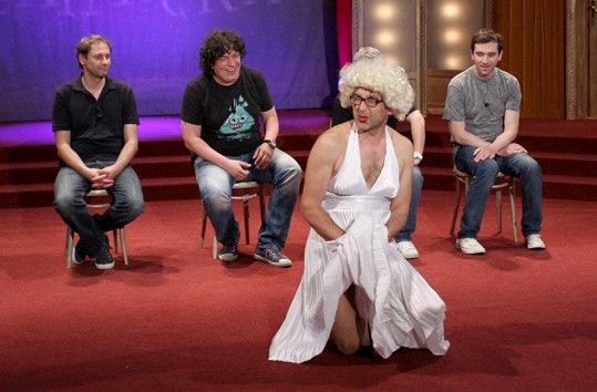 Marián Čurko jako Marilyn Monroe.