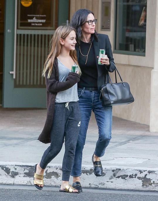 Courteney Cox s dcerou v Los Angeles