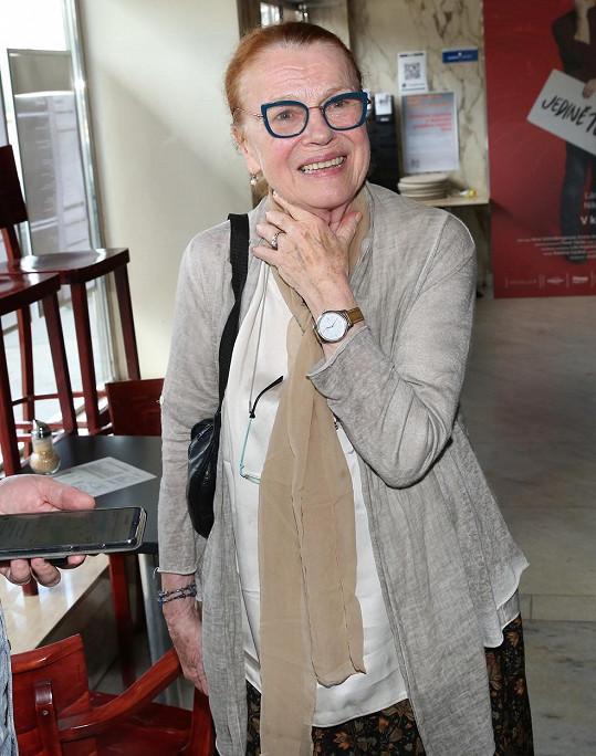Herečka Iva Janžurová byla ráda, že nabídku na roli vzala.