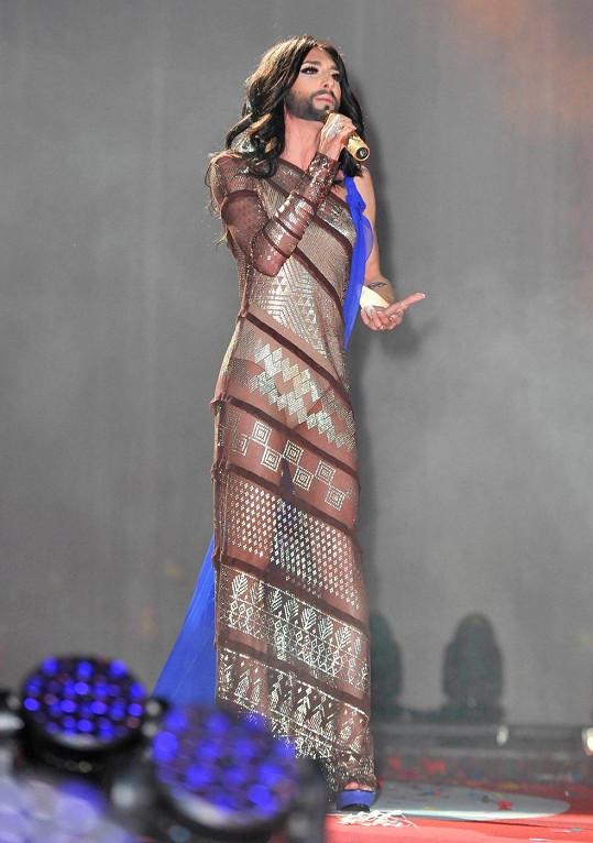 Na plese vystoupila Conchita Wurst.