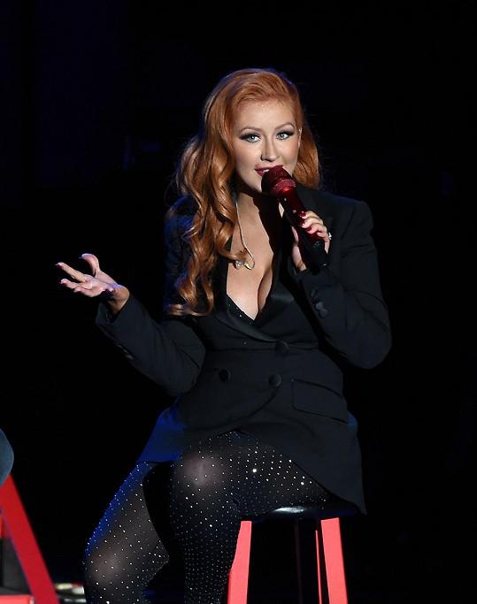 Aguilera na koncertě pro Hillary Clinton