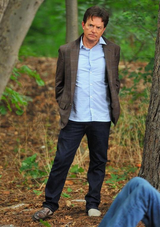 Michael J. Fox natáčí svůj nový seriál.