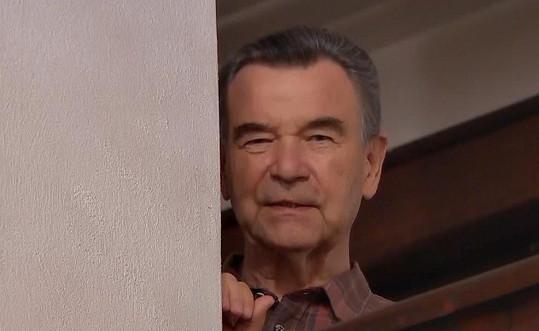 Václav Postránecký v jednom z posledních seriálových záběrů