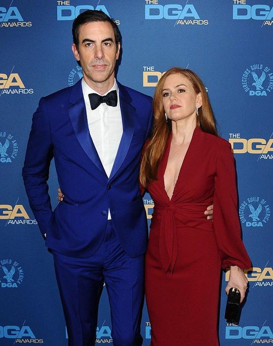Isla Fisher s manželem Sachou Baronem Cohenem