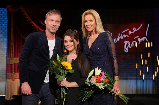 ...když byl do jejího pořadu pozván spolu se zpěvačkou Magdou Malou.
