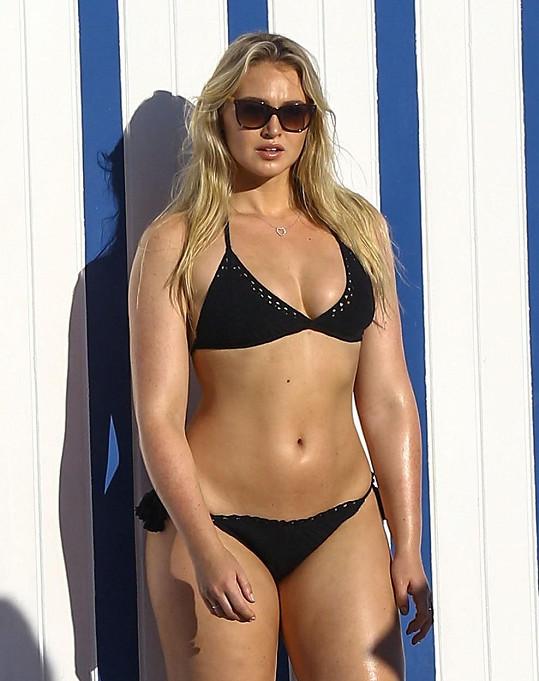 Modelka kašle na diety, ale pravidelně cvičí.