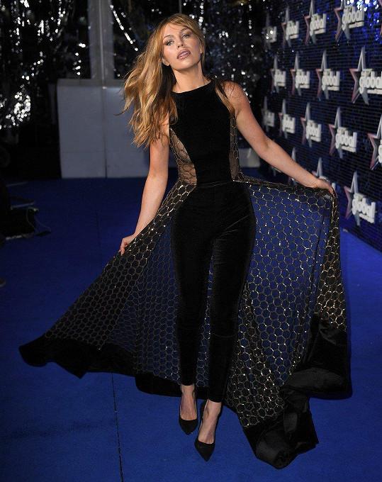 Britská modelka a dnes už i úspěšná spisovatelka Abbey Clancy na udílení cen Global Awards v Londýně