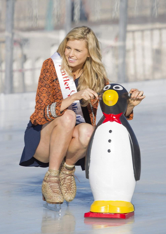 Miss Universe Tegan Martin propagovala ledovou plochu na pláži Bondi.