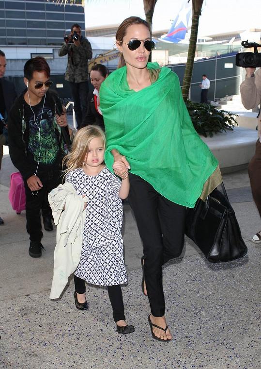 Angelina Jolie s dcerou Vivienne