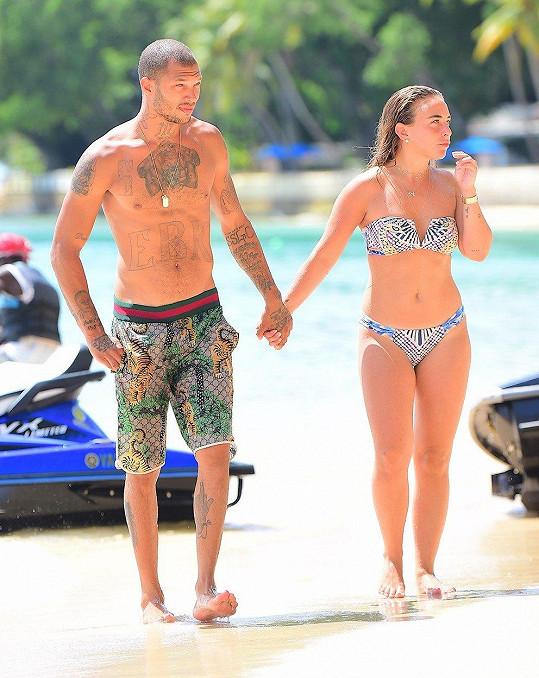 Jeremy Meeks a Chloe Green na Barbadosu