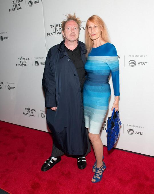 John Lydon s manželkou Norou v roce 2017