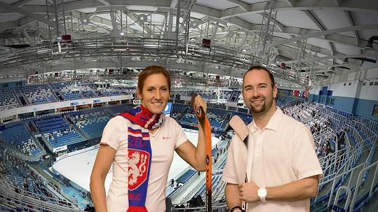Aleš Valenta s olympijskou vítězkou Mirkou Knapkovou