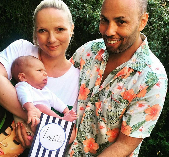 Jana s partnerem a synem Sebastienem