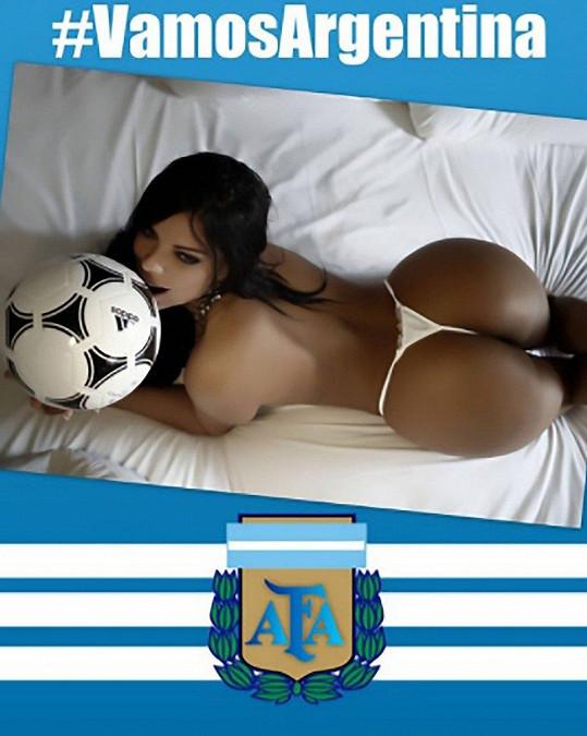 Suzy Cortez je Brazilka, ale má slabost pro Argentince Messiho.