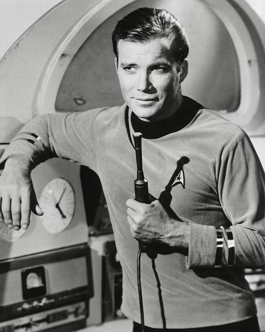 William Shatner jako kapitán Kirk ve Star Treku