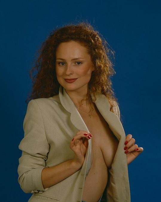 Markéta Hrubešová na sexy snímku z 90. let.