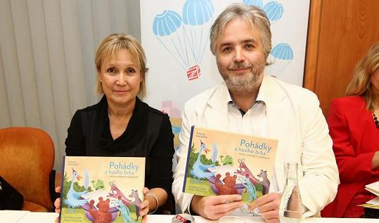 Milena Steinmaslová s režisérem Ondřejem Kepkou