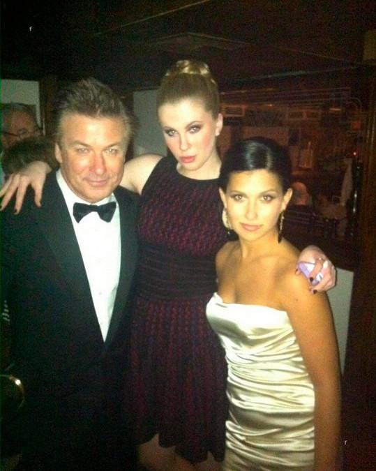 S otcem Alecem a jeho ženou Hilariou