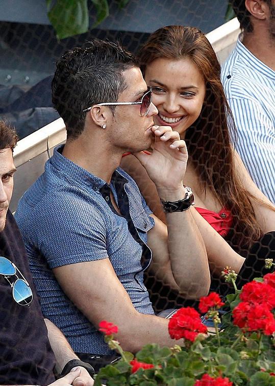 Cristiano Ronaldo s přítelkyní Irinou Shayk.