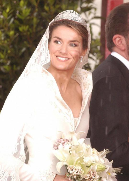 Letizia se v roce 2004 stala manželkou prince Felipeho.