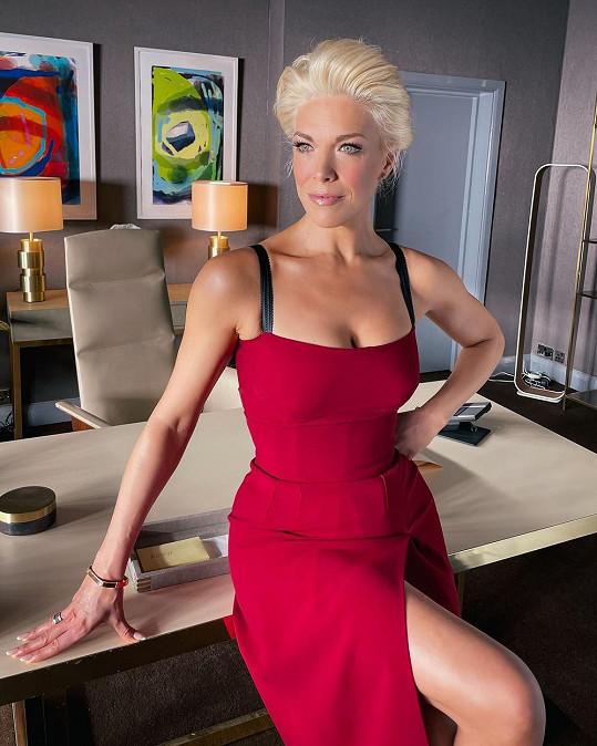 V civilu je herečka velmi půvabná.
