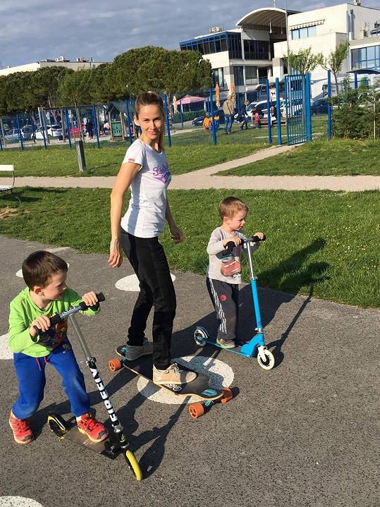 Synové Lucky a Michala jsou také velmi aktivní.