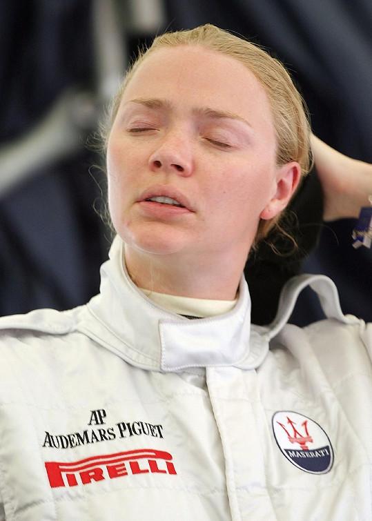Jodie Kidd po závodě