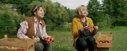 Herečky v jablečném sadu
