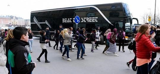 Autobus Justina Biebera, s nímž obráží světová turné.