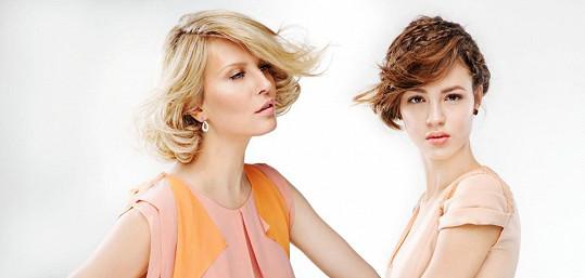 Jen stěží byste mezi modelkami poznali čtyřiadvacetiletý věkový rozdíl.