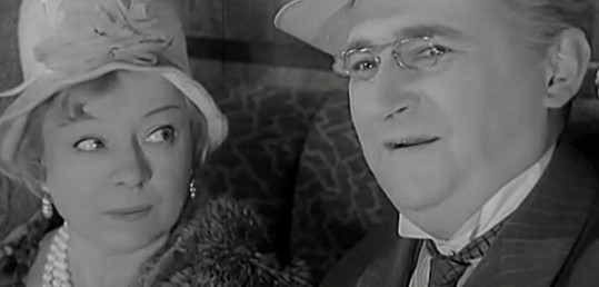 S Jiřím Sovákem ve filmu Čintamani a podvodník (1964).