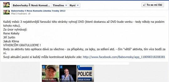 Soutěž oficiálních stránek filmu Babovřesky vyhráli producenti.